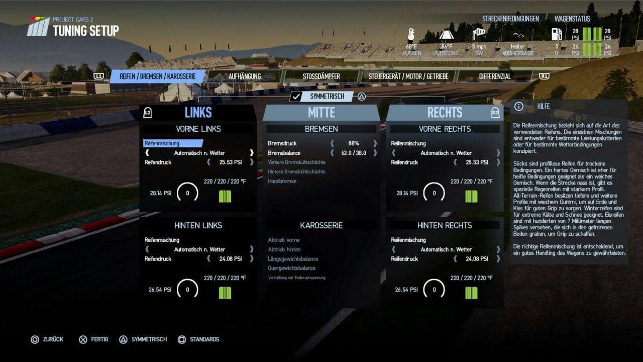 Project Cars 2 Tuning